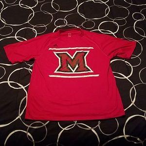 Adidas Miami University tee shirt